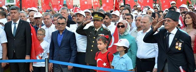 15 Temmuz Şehitleri Anma, Demokrasi ve Milli Birlik Günü Törenleri Düzenlendi.