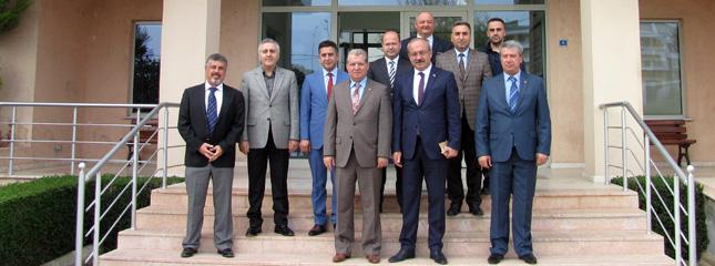 Tekirdağ İl Emniyet Müdürü Mustafa Aydın ve Beraberindeki Heyet Borsamızı Ziyaret Etti.