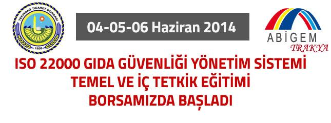 ISO 22000 G�da G�venli�i E�itimi Borsam�zda Yap�ld�