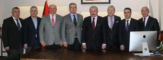 TBMM Başkanı Prof. Dr. Mustafa Şentop Tekirdağ TSO'yu Ziyaret Etti
