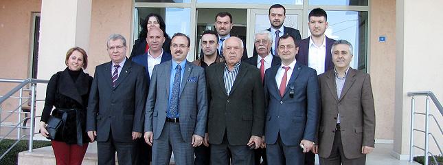 Adalet Ve Kalk�nma Partisi 1.S�ra Milletvekili Aday� Sn. Mustafa Yel Borsam�z� Ziyaret Etti.
