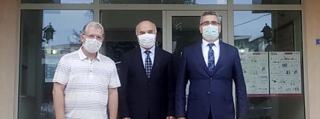 Tekirdağ NKÜ Rektörü ve İl Müftüsü Borsamızı Ziyaret Etti.