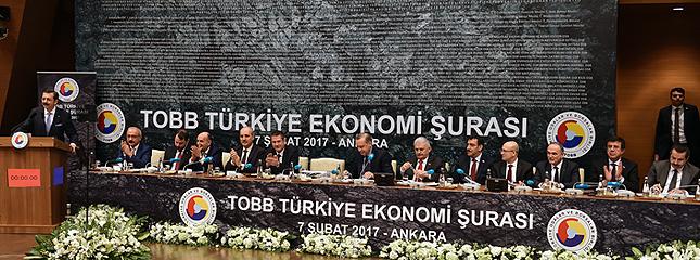 Türkiye Ekonomi Şurası Cumhurbaşkanı Erdoğan'ın Katılımlarıyla Tobb İkiz Kulelerde Gerçekleştirildi
