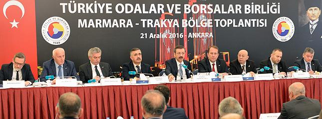 Marmara ve Trakya Bölge Toplantısı TOBB'da yapıldı