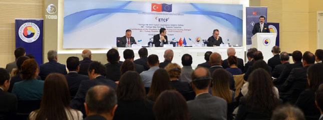 T�rkiye-AB Sivil Toplum Diyalo�una Odalar�n Katk�s�,ETCF-II Kapan�� Toplant�s� TOBB'de Yap�ld�