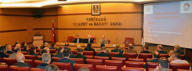 İlimiz Valisi Başkanlığında Tekirdağ TSO toplantı salonunda Tekirdağ Ekonomi Günleri toplantısı yapıldı.
