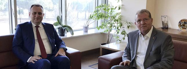 Tekirdağ Vergi Dairesi Başkanlığı Görevine Atanan Sn.Mustafa Taşkın Borsamızı Ziyaret etti.